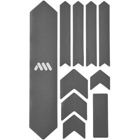 All Mountain Style Extra Kit di Protezione del Telaio 10 Pezzi, argento/bianco